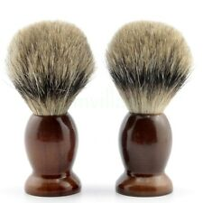 2X Fashion Brown Schima Wood Shaving Brush Best Pure Badger Hair For Men Shave