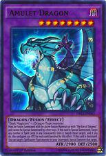 YuGiOh Amulet Dragon - DRL3-EN043 - Ultra Rare Near Mint