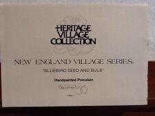 Dept 56 New England Village - Bluebird Seed And Bulb - #56421 - Euc