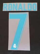 Authentic Real Madrid Player Size Flock RONALDO für adidas Home Trikot 2017-2018