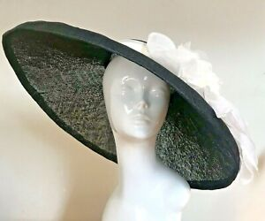 ExclusiveBlack & White Designer Millinery by Hat Couture Wedding Bridal Ascot