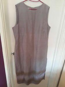 Ladies LAURA ASHLEY Lilac Silk Shift Dress, Size 18 BNWT.