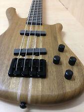 Haze 3213N 4-String Electric Bass Guitar,Pre-Amp,Natural Matt, w/Free gig bag