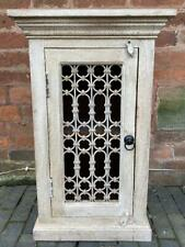 Indian Wood Side / Bedside / Occasional Table - Reclaimed Vintage Painted White
