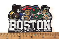 Boston City of Champions Embroidered Iron-on Patch Bruins Patriots Red Sox Celti