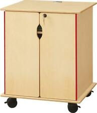 Jonti-Craft Wooden Presentation Cart - Lockable