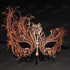 New Rose Gold Swan Elegant Metal Laser Cut Venetian Halloween Masquerade Mask