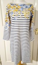 Joules Ladies Size 14 Riviera Dress Navy Floral/Stripes NEW/RRP£39.95 ❤️❤️