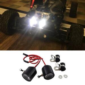 Universal 1 Pair LED Light Headlight Spotlight RC Car DIY 3W for Off-road Truck