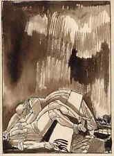 EDY LEGRAND - Un VIOL - plume et aquarelle originale - 1922 - signée a la main