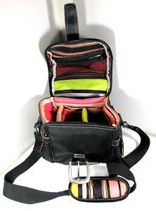 VITURI Soft Camera Shoulder Bag Buckles Accessory Pockets Pink Green Black