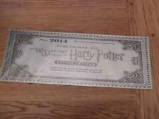 GOOD QUALITY HARRY POTTER METAL SIGN WALL PLAQUE TRAIN TICKET DIAGON ALLEY 40X15