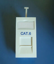 Cat6 Gigabit UTP Rj45 Low Profile 25x50mm Gigabit Network Module Data Faceplate