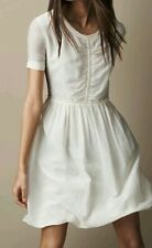 NEW with tags Burberry Theola Women's Dress Size 12 off white ivory