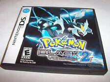 Pokemon Black 2 Version (Nintendo DS) Lite DSi XL 3DS 2DS w/Case & Manual