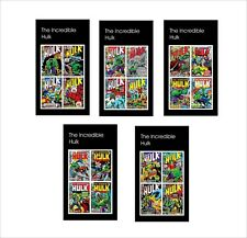 THE INCREDIBLE HULK  MARVEL SUPERHEROES 10 SOUVENIR SHEETS MNH UNPERFORATED