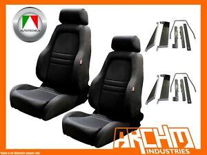 AUTOTECNICA ADVENTURER 4WD 4X4 SEAT CLOTH BLACK - PATROL Y61 GU ADAPTOR - PAIR