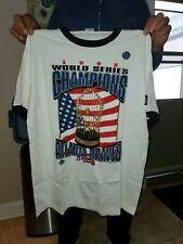 VTG Starter White Atlanta Braves 1995 World Series Champions T-Shirt X-Large NEW