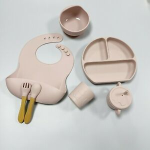 Gloria Meal Kits Baby Toddler Feeding Weaning Set Silicone 7 Pieces Dusty Pink