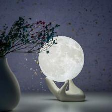 Brightworld Moon Lamp, 3.5 inch 3D Printing Lunar Lamp Night Light with White Ha