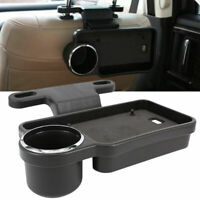 Universal Car Seat Back Rear Table Drink Food Cup Tray Holder Desk Mount folding