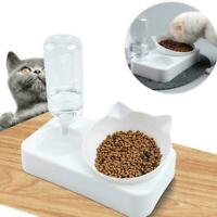 Automatic Pet Feeder Cat Dog Food Dispenser Water Fountain Bowl Drinker S0U0