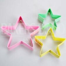 Set di 3 stelle in acciaio inox formine per biscotti con anello di storage e ricetta BLOCCHETTO