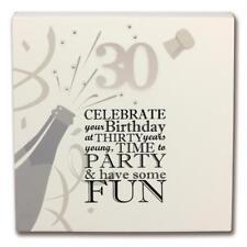 Said with Sentiment 7120 Wall Art Block 30th Birthday