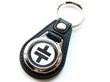 More details for take that black design boy band pop group quality leather and chrome keyring