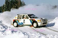Ari Vatanen Peugeot 205 Turbo 16 Winner Swedish Rally 1985 Photograph 2