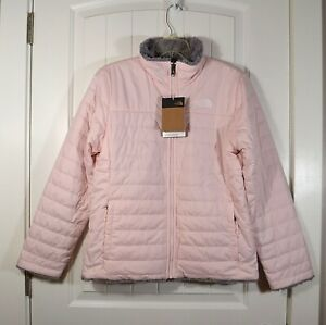 NWT KIDS YOUTH GIRLS THE NORTH FACE REVERSIBLE MSBD SWRL JACKET PINK SZ XL (18)