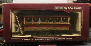 BACHMANN G SCALE 93941 SEASONS  GREETING CHRISTMAS STREET CAR