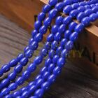 New Arrival 30pcs 9X7mm Teardrop Shape Loose Spacer Glass Beads Royal Blue