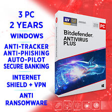 Bitdefender Antivirus Plus 2021 3 PC 2 Jahre / VOLLVERSION + VPN