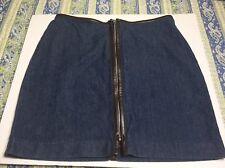 Old Navy Jean Skirt Sz 4 Mini/Micro Dark Wash Denim Zippered Womens
