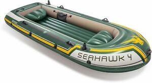 """INTEX Boot """"Seahawk 4"""" SET inkl. Alu-Paddel (B-Ware / Verpackung beschädigt)"""