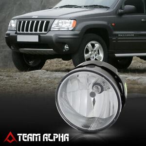 Fits 2004-2004 Jeep Grand Cherokee [LH/RH]Clear OE Bumper Fog Light Lamp w/Bulb