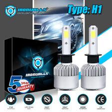 IRONWALLS H1 LED Headlight Bulb Kit 2000W 6000K White Hi/Low Beam HID Kit Fog