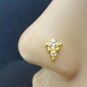 Crystal Nose Ring Gold Nose Ring Crock Screw Nose Piercing Mother Day Gifts
