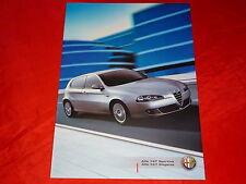 """ALFA ROMEO 147 """"sportiva + eleganza"""" speciale modelli prospetto di 1/2006"""