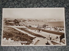 THE ESPLANADE   SWANAGE   DORSET    PHOTO POSTCARD VINTAGE POSTED 1952   VGC