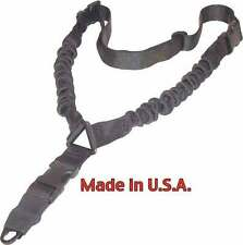 Black Tactical 1 One Single Point Bungee Rifle Gun Sling w/ QD Buckle