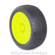 AKA Racing Typo 1/8 Buggy Tires (Pre-Mounted) (Yellow) (MED - Long Wear) (2)
