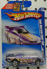 2010 FORD DRAG RACING MUSTANG GT FUNNY CAR PURPLE 158 10 97 FORCE HW HOT WHEELS