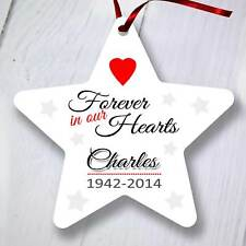 ALBERO di Natale personalizzata Ornamento Decorazione-Star-Per sempre nei nostri cuori