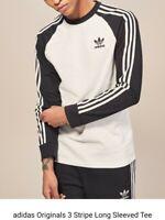Adidas Originals California 3 Stripes Long Sleeve T-Shirt Mens Size: XL