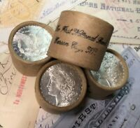 (ONE) UNCIRCULATED $10 Silver Dollar Roll Mixed Morgan Dollar Ends
