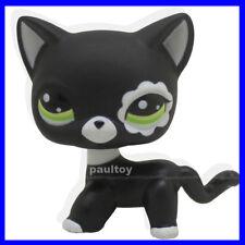 Littlest Pet Shop RARE Black Short Hair Cat kitty Animal Figure Toy LPS #2249 B
