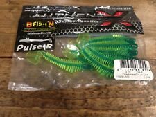"B Fish N, BFISHN Pulse R Paddle Tail, 3.25"", Chartreuse/Green Core, 325PR-102"