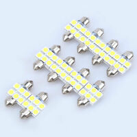 10x White 31MM 5050 6SMD Car Dome Map Door License Plate Interior LED Light Bulb